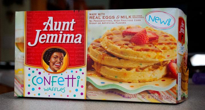 Aunt Jemima Confetti Waffles